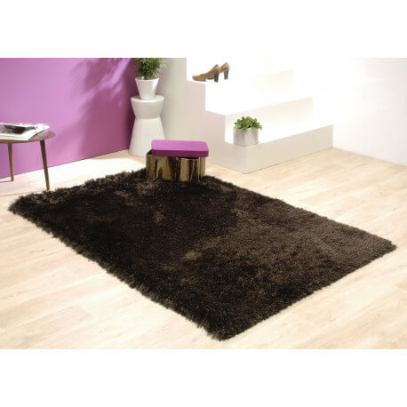 tapis shaggy marron darwin. Black Bedroom Furniture Sets. Home Design Ideas