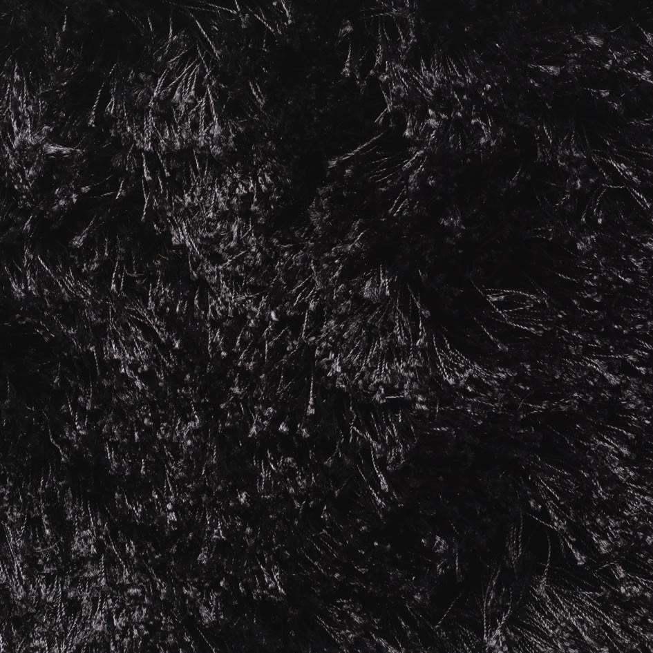 Tapis uni noir en polyester Darwin
