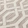 Tapis beige scandinave géométrique pour salon Mondo