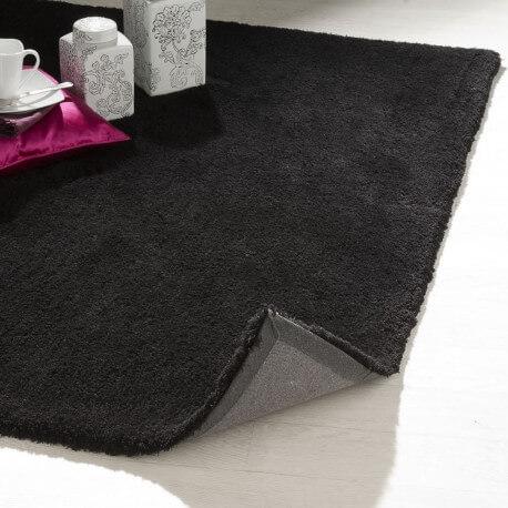tapis de salon noir uni cosy