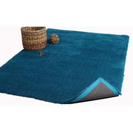 Tapis rectangulaire bleu Cosy