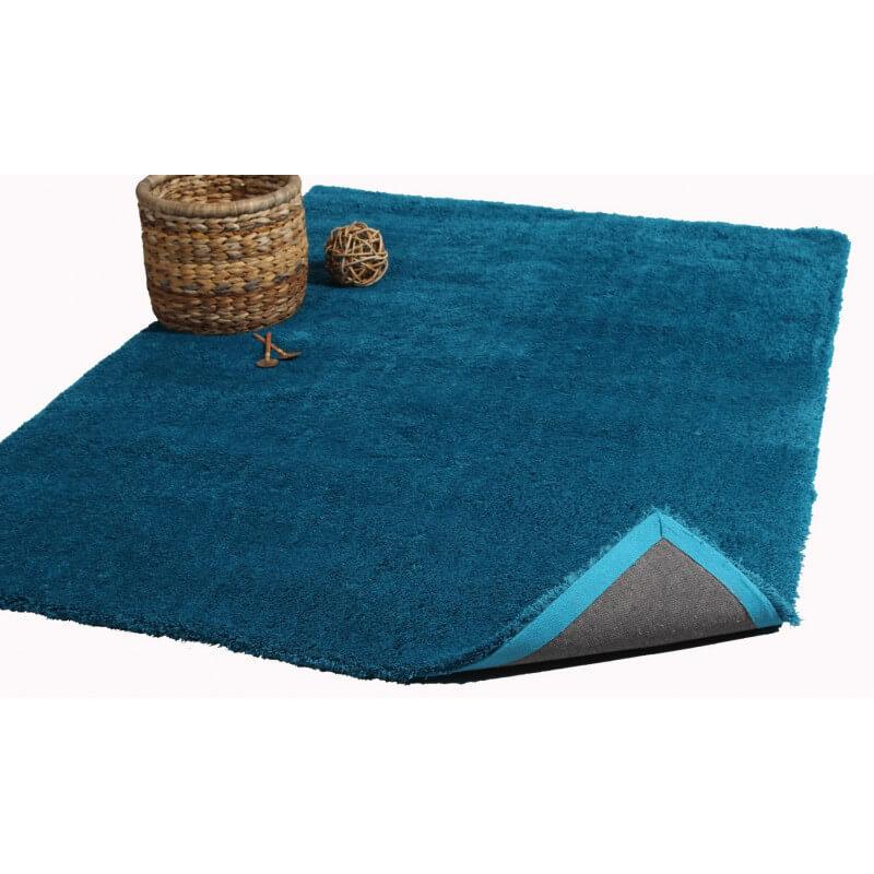 tapis rectangulaire bleu cosy. Black Bedroom Furniture Sets. Home Design Ideas