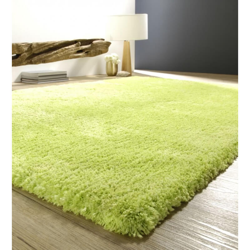 tapis doux shaggy vert cosy. Black Bedroom Furniture Sets. Home Design Ideas