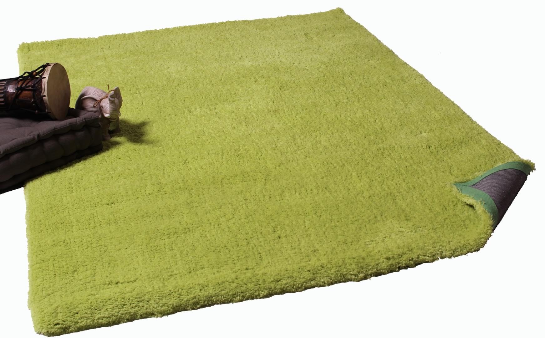 Tapis doux shaggy vert Cosy