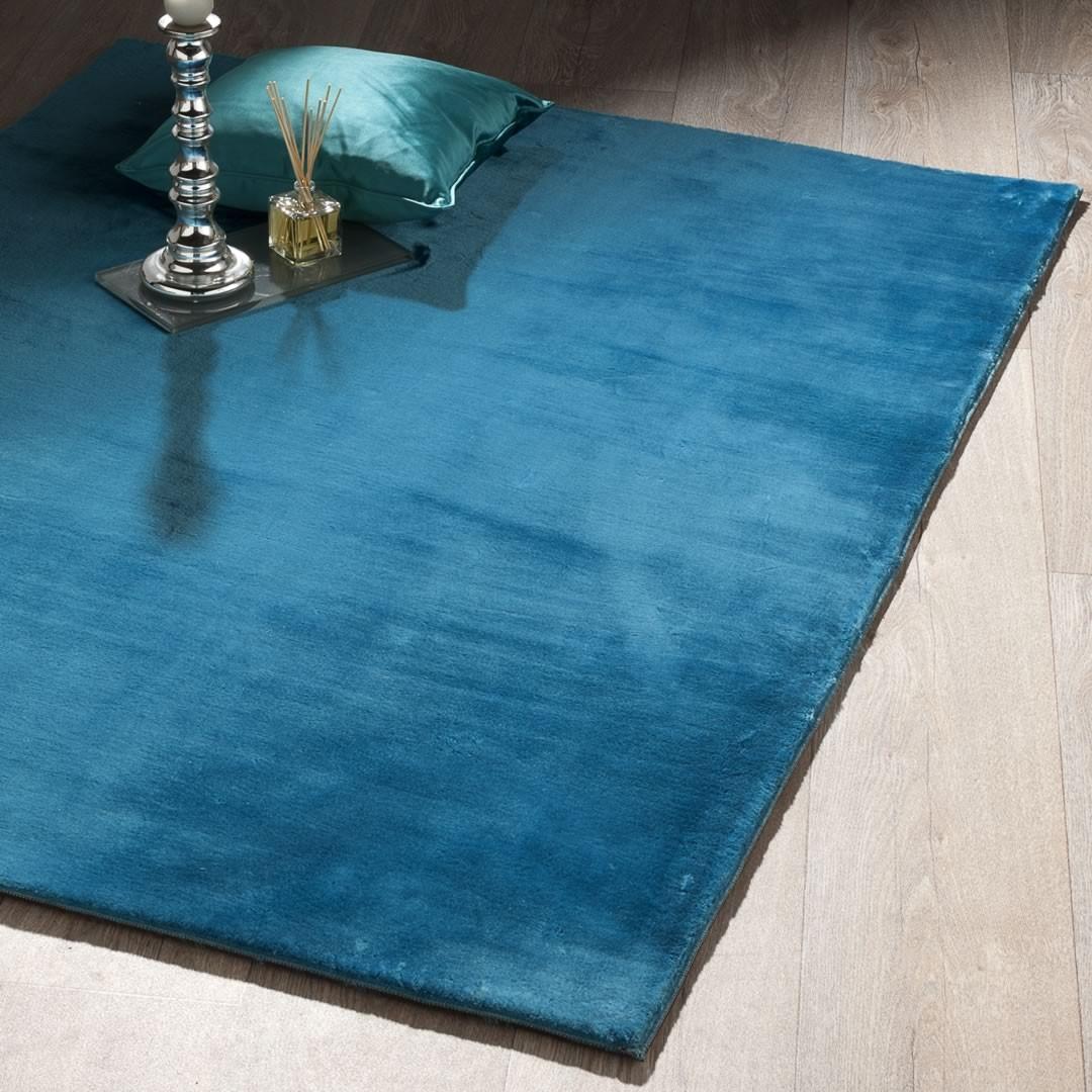 tapis relief shaggy bleu aspen. Black Bedroom Furniture Sets. Home Design Ideas