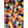 Tapis multicolore moderne rectangle à courtes mèches Rhumba