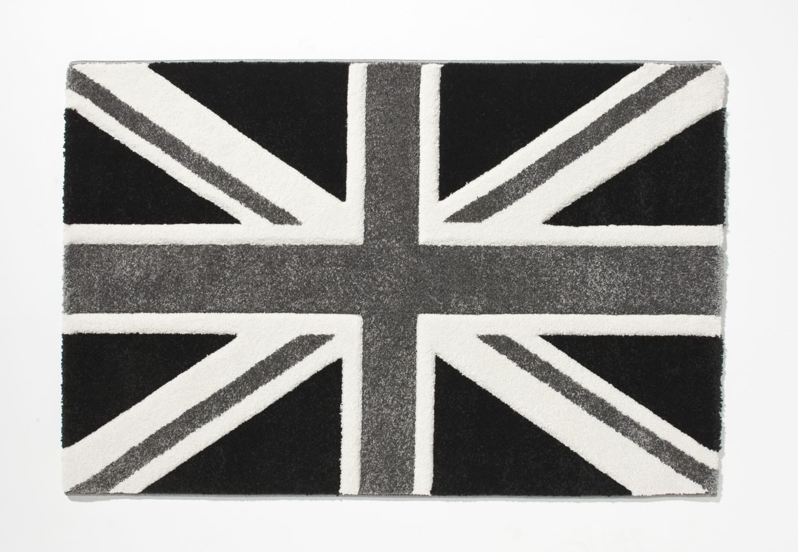 Tapis Moderne Polypropylene Noir Et Blanc London City