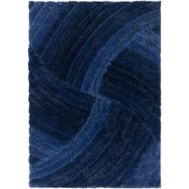Tapis shaggy effet 3D courbe rectangle Furrow