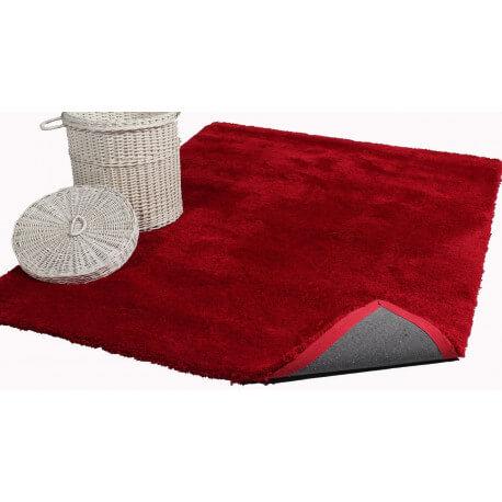 Tapis rouge shaggy pour salon Cosy