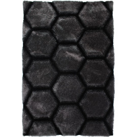 Tapis effet 3D shaggy rectangle pour salon Honeycomb