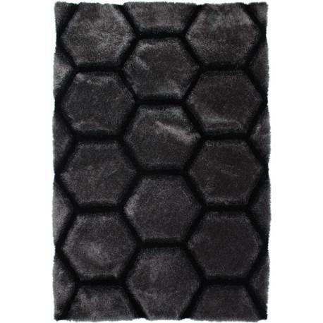 Tapis effet 3D shaggy rectangle pour salon Honeycomb
