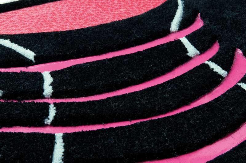Tapis en polyester design noir Punk par Papilio