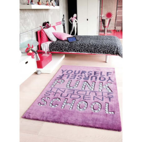 tapis punk violet de chambre enfant par papilio. Black Bedroom Furniture Sets. Home Design Ideas