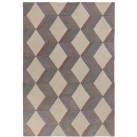 Tapis beige design en laine rectangle graphique Brent
