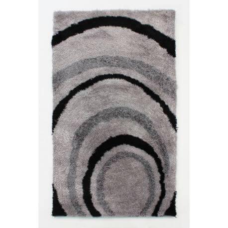Tapis moderne effet courbe pour salon rectangle Droplet
