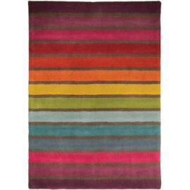 Tapis rectangle multicolore en laine moderne Candy
