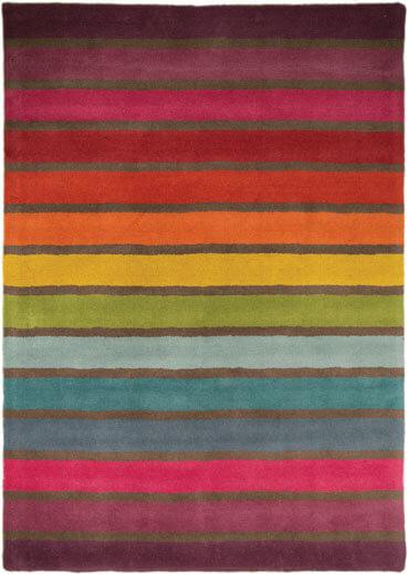 Tapis rectangle multicolore en laine moderne Candy