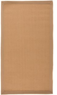 Tapis naturel en jute plat avec bordure Herringbone