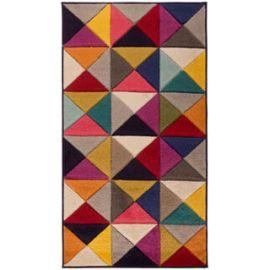 Tapis géométrique pour salon design multicolore Samba