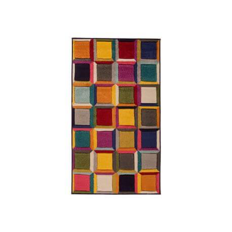 Tapis cubique multicolore moderne pour salon Waltz