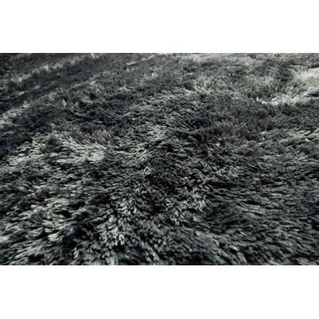 Tapis noir contemporain Lucca par Papilio