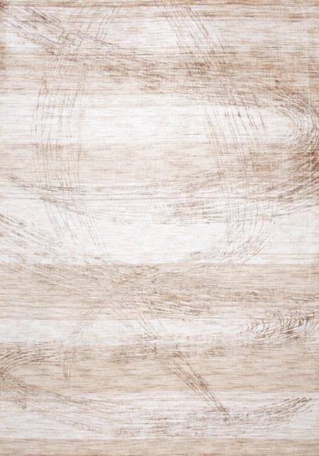 Tapis en bambou vintage beige Silence par Papilio