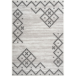 Tapis moderne pour salon rectangle argenté Laredo