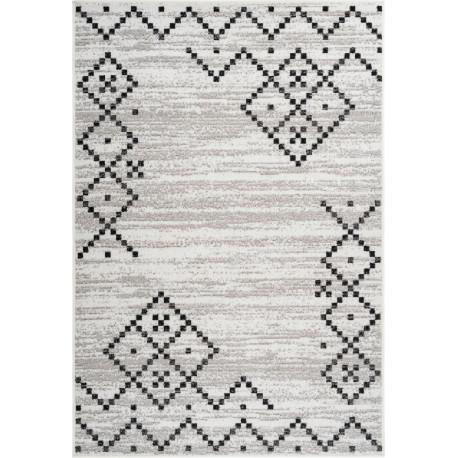 Tapis moderne pour salon rectangle argenté Laredo