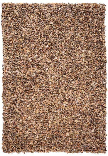 Tapis en coton et cuir recyclé marron Season 1 par Papilio