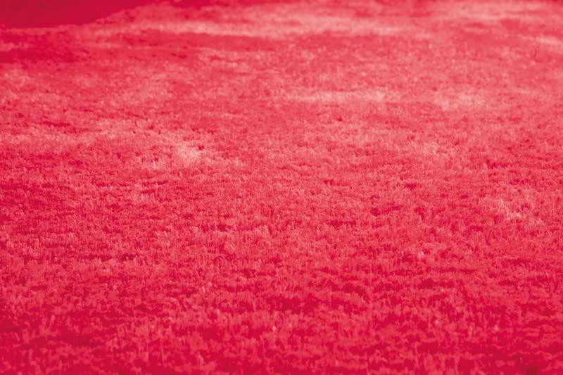 Tapis de chambre moderne rouge fluo Las Vegas par Papilio