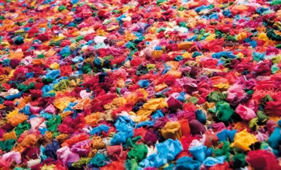 Tapis multicolore à courtes mèches Popcorn par Papilio