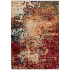 Tapis rouge vintage avec franges à mèches courtes Garland
