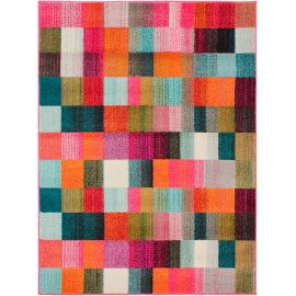 Tapis rectangle multicolore pour salon design Square