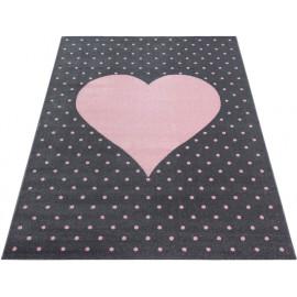 Tapis rectangle pour enfant doux Cœur
