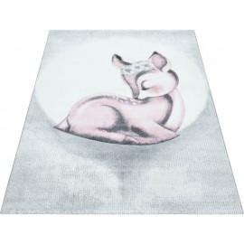 Tapis pour chambre d'enfant rose rectangle Bamba