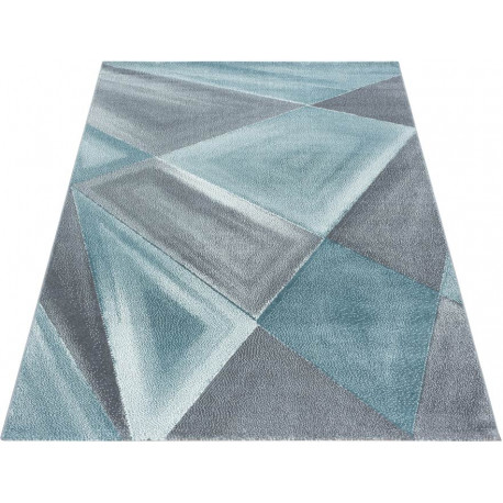 Tapis graphique pour salon design rectangle Adel