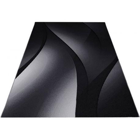 Tapis effet courbe pour salon design rectangle Kris