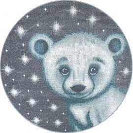 Tapis rond pour enfant motif ours doux Alice