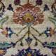 Tapis ethnique pour salon à courtes mèches moderne Rovigo