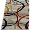 Tapis moderne pour salon à mèches courtes multicolore Pordenone