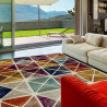 Tapis scandinave rectangle multicolore graphique Acireale
