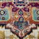 Tapis vintage pour salon ethnique à courtes mèches Severo
