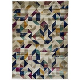 Tapis multicolore géométrique intérieur scandinave Aversa
