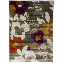 Tapis floral rectangle en polypropylène multicolore Velletri