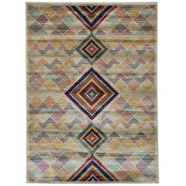 Tapis kilim pour salon rectangle design multicolore Gallarate