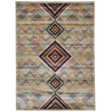Tapis kilim pour salon rectangle design multicolore Gallarate