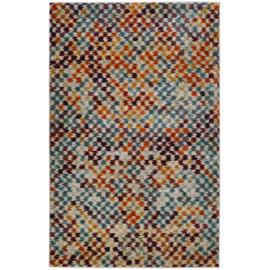 Tapis multicolore design intérieur à courtes mèches Portici