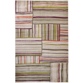 Tapis moderne multicolore pour salon rayé Teramo