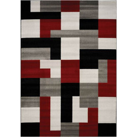 Tapis graphique rectangle intérieur multicolore Trani