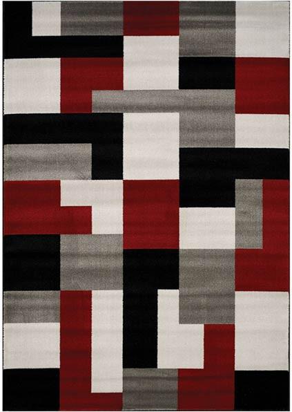 Tapis graphique rectangle intérieur multicolore Trani